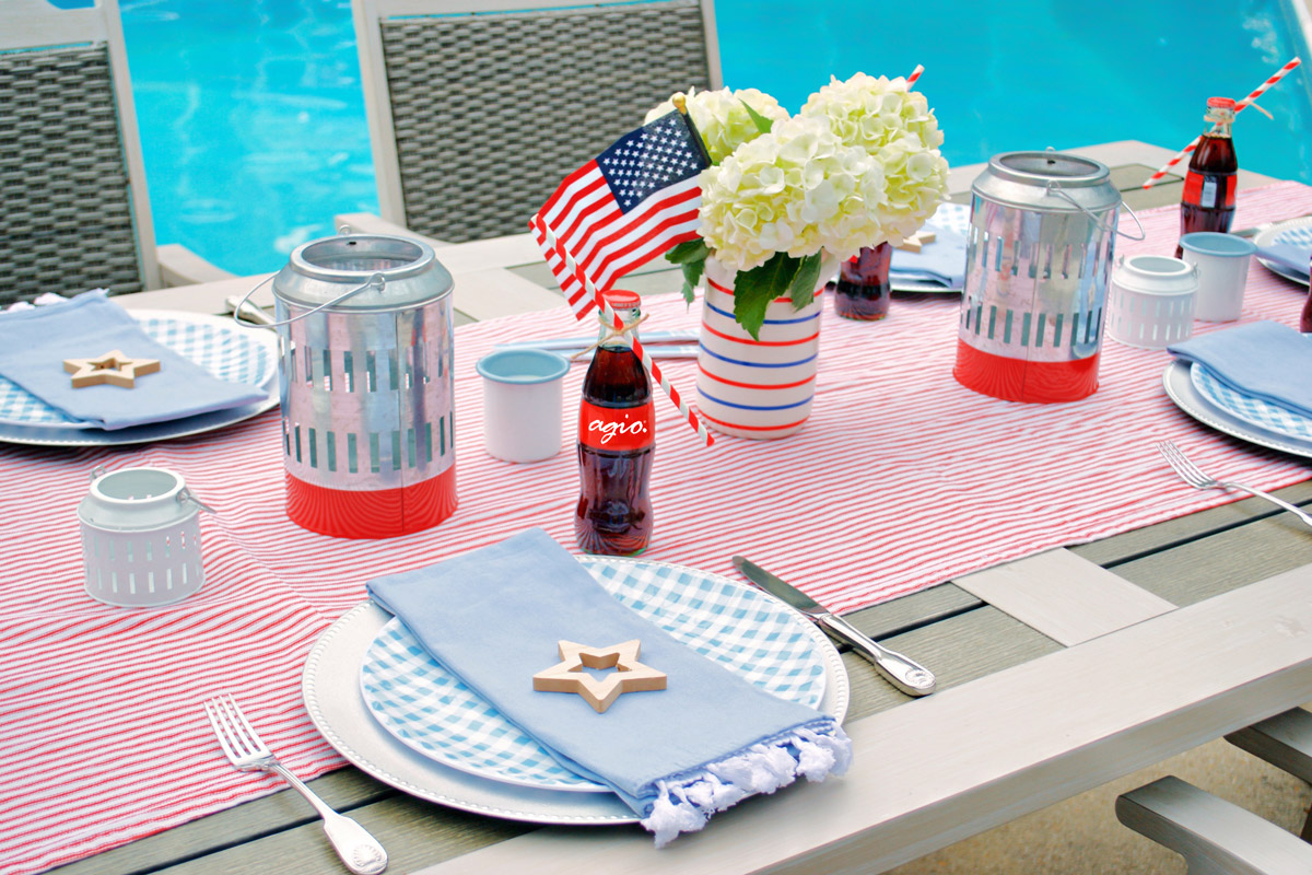 Hosting Fourth of July Place Settings